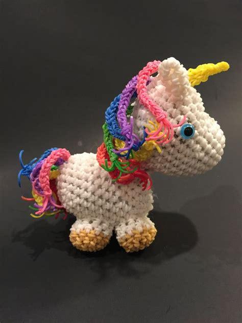 loom band unicorn printable instructions unicorn rubber band figure rainbow loom loomigurumi