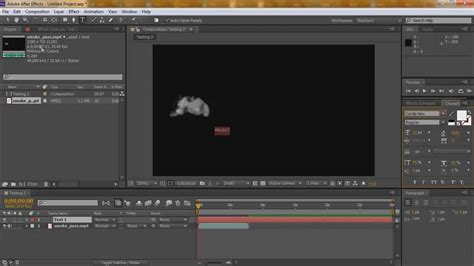 tutorial after effect smoke after effects tutorial 2 smoke text reveal youtube