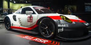 Porsche Race Cars Mazda And Porsche Race Cars Unveiled At The La Auto Show