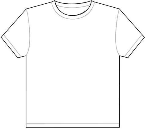 printable blank tshirt template free coloring pages of blank shirt