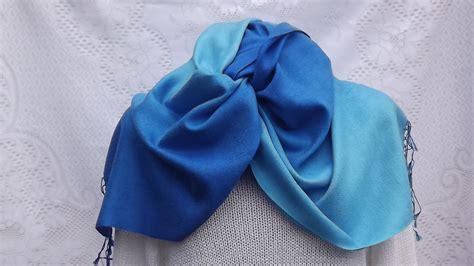 Pashmina Instan Aesha Sky Blue shaded pashmina wrap 45 x 165 cm about pashmina