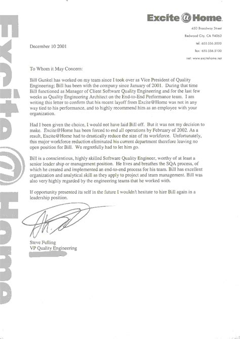 Recommendation Letter For Employee Engineer Referencesindexpage