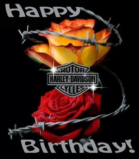 harley happy birthday images happy birthday harley davidson roses verjaardagspins