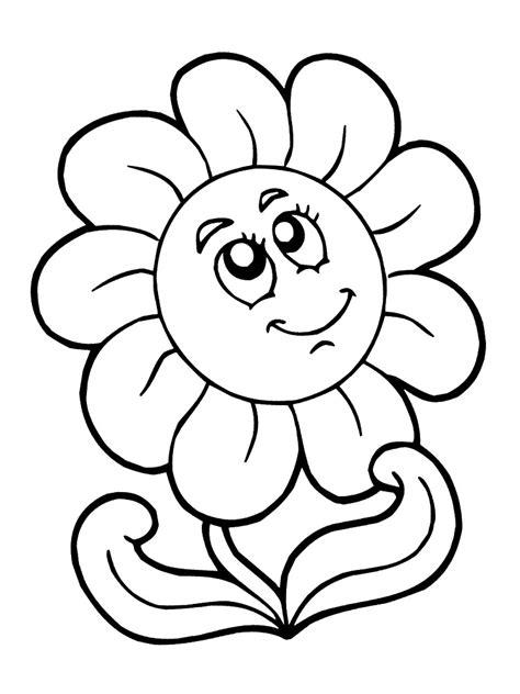 imagenes de flores animadas para colorear dibujos infantiles para colorear flores para