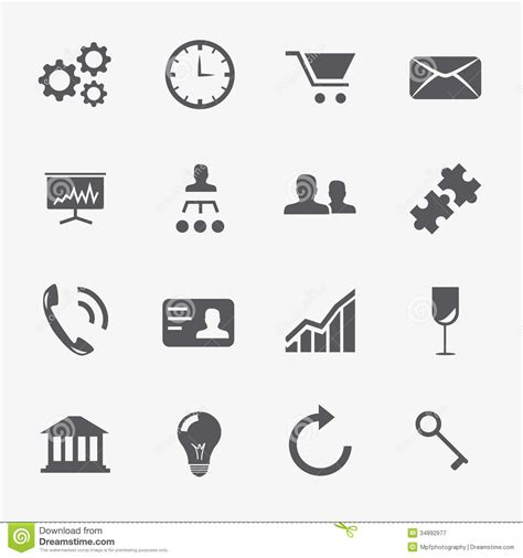 Vector Business Icons Set Royalty Free Stock Photos Image 1095468 Business And Strategy Icons Vector Set Stock Illustration Illustration 34892977