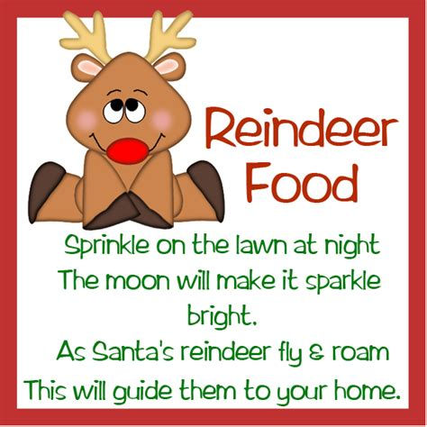 printable reindeer food poems reindeer food template new calendar template site