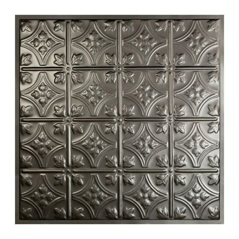 ceiling tiles home depot great lakes tin hamilton 2 ft x 2 ft lay in tin ceiling tile in argento y52 07 the home depot