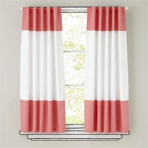 pink white curtains kids curtains pink and white curtain panels the land of nod