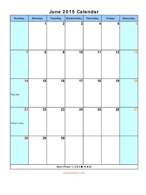 template of june 2015 calendar best photos of printable 2015 monthly calendar template