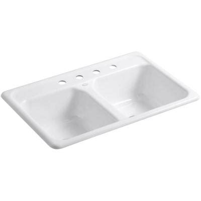 kohler delafield top mount cast iron 33 in 4