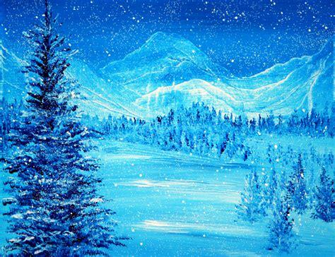 ann marie bone original art blue winter