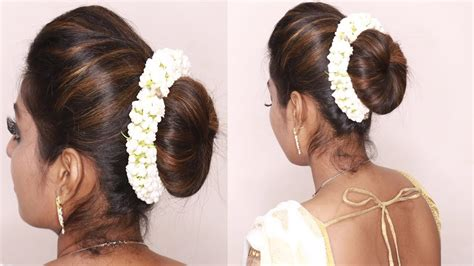 south indian wedding guest hairstyles tamil puff