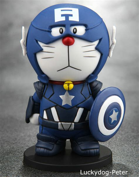 Doraemon Captain America 1 aliexpress buy doraemon figure 1 10 scale