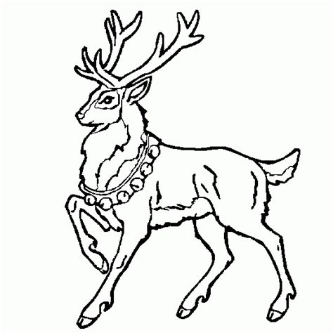 santa and rudolph coloring pages
