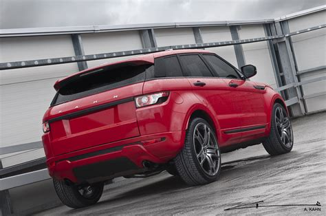 land rover red kahn red range rover evoque autoevolution