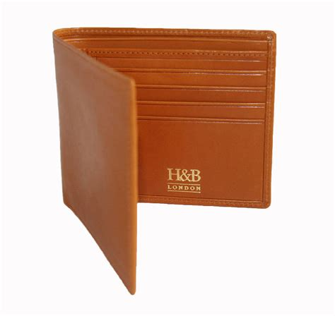 Handmade Leather Wallets Uk - handmade s leather billfold wallet by h b