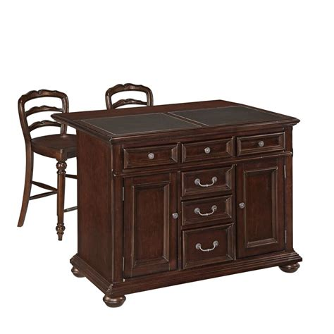 home styles furniture monarch kitchen island w granite colonial classic kitchen island w granite top and two