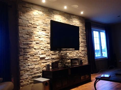 tv walls ledgestone tv wall home creative ideas pinterest