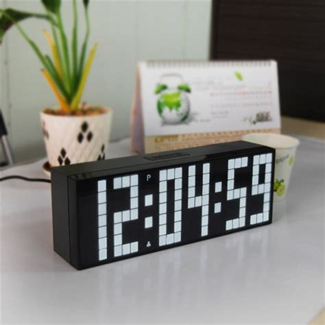 bedroom digital clock ch kosda big number led digital clock silent wall bedroom