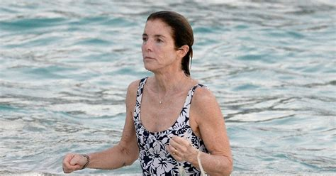 former ambassador caroline kennedy goes swimming in st barts