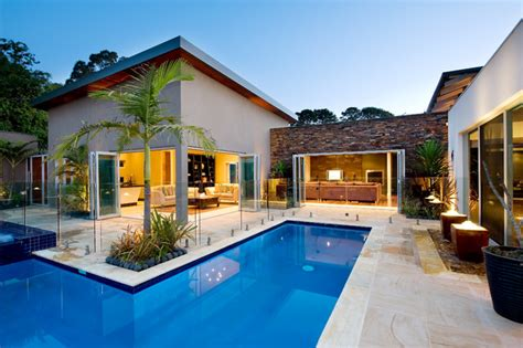 kerala home design with swimming pool noosa villa by design unity mediterranean pool