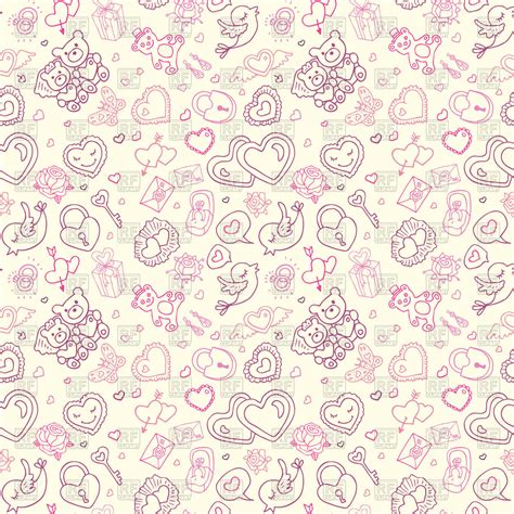 cute wallpaper vector free download cute hand drawn wedding seamless background royalty free