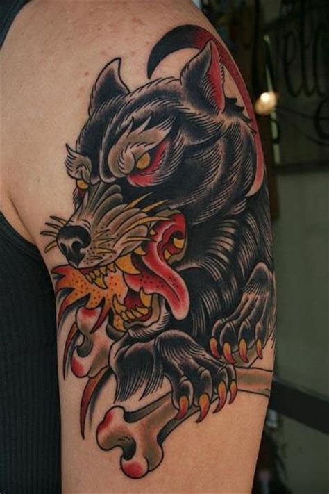 wolf traditional tattoo 20 traditional wolf ideas designs and images