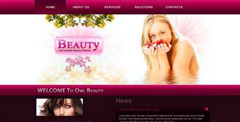 Fashion Health And Beauty Website By Owltemplates Themeforest Cosmetic Website Templates
