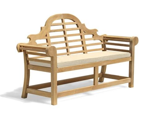 teak bench cushions lutyens bench cushion medium lindsey teak