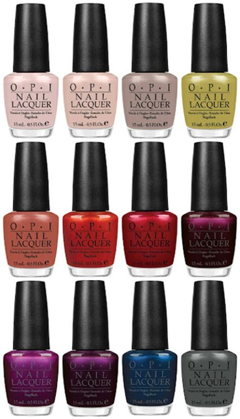 opi fall colors fall nail colors from opi nails and