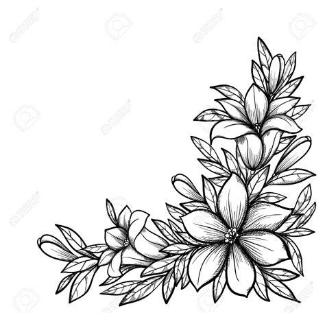 Dessin Fleur Noir Et Blanc Coloriage Download