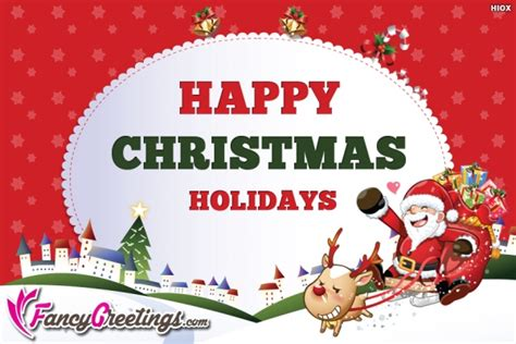 happy christmas holidays wishes