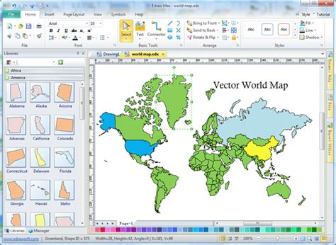 software for map drawing free vector world map editable