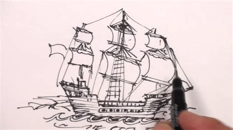 pirate ship a sketch for a how to how to draw a pirate ship step by step easy drawing lesson for beginners youtube