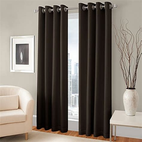 108 inch grommet curtains buy majestic 108 inch blackout lined grommet window