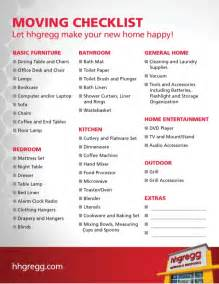 Hhgregg printable moving checklist