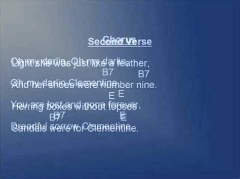 clementine lyrics clementine lyrics and chords
