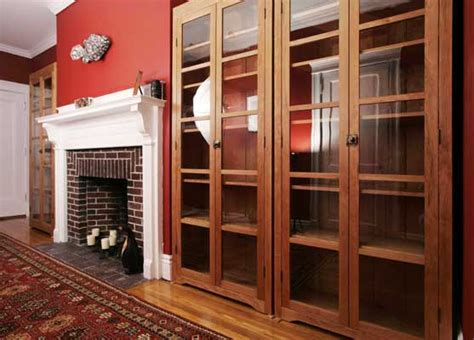 Cherry Bookcase With Glass Doors Freestanding Cherry Bookcases Vt Handmade Free Standing Bookcases