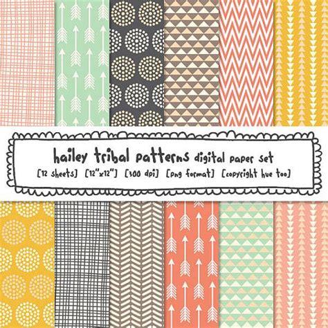 tribal pattern paper tribal patterns digital paper girls photography