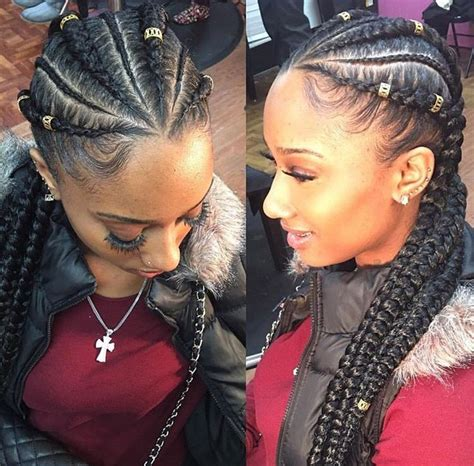 female latest tiny braids mixed with ghana weaving cornrows to see more follow kiki slim hairstyles
