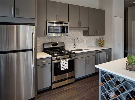 fully equipped kitchens with stainless steel ge energy 174 appliances slate gray kitchen
