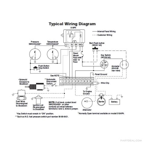 murphy murphy swichgage shutdown panel kit 12v with start