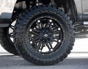 Truck Rims And Mud Tires Fuel 174 Hostage Wheels Matte Black Rims