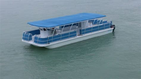 catamaran pontoon design party barge boat car interior design