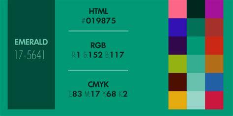 Emerald Green Hex Code code hexa rvb et cmjn du vert 233 meraude couleur de l ann 233 e