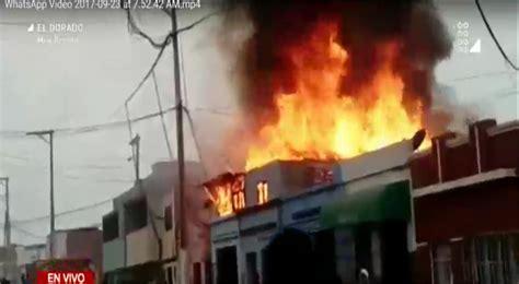 bomberos imagenes fuertes callao fuerte incendio consume segundo piso de vivienda y