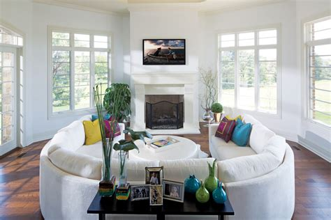 u shaped sectional sofa Family Room Contemporary with arc lamp built in desk beeyoutifullife.com