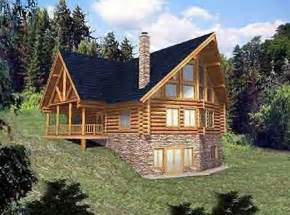 Log Cabin Floor Plans With Basement Two Story House Plan With Walkout Basement Walkout
