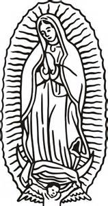 our lady of guadalupe coloring page coloring pages kids