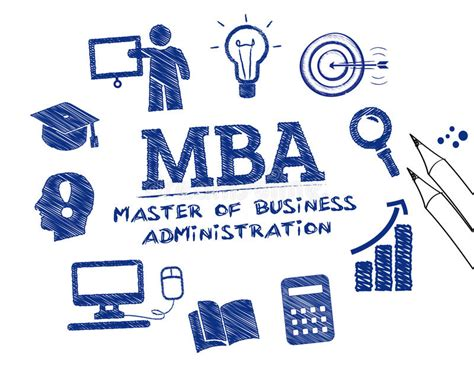Mba To Learn Stocks by Master Of Business Administration Concept Doodle Stock
